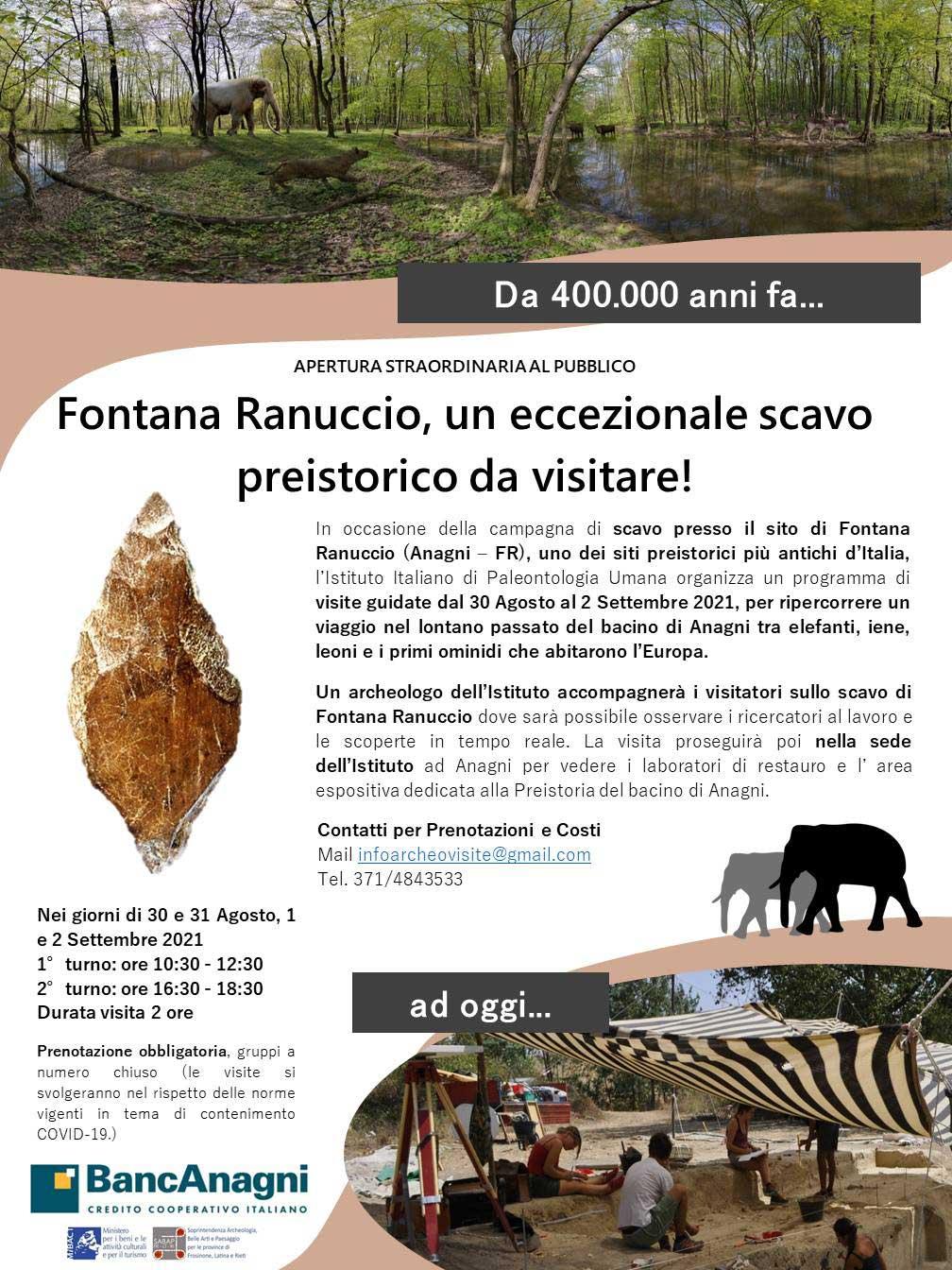 Locandina visite Fontana Ranuccio 2021