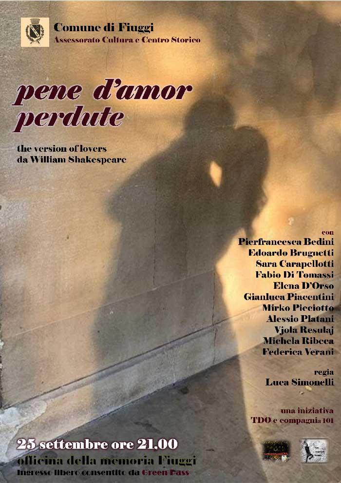 Locandina Pene D'Amor Perdute Shakespeare Fiuggi