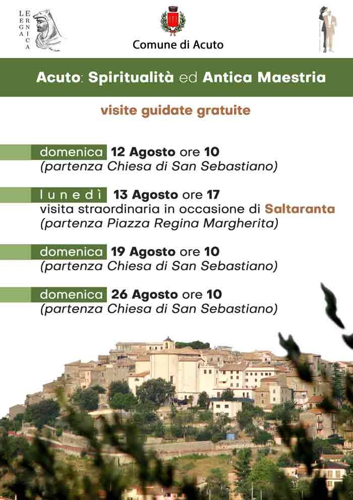 Acuto Spiritualità ed Antica Maestria Locandina