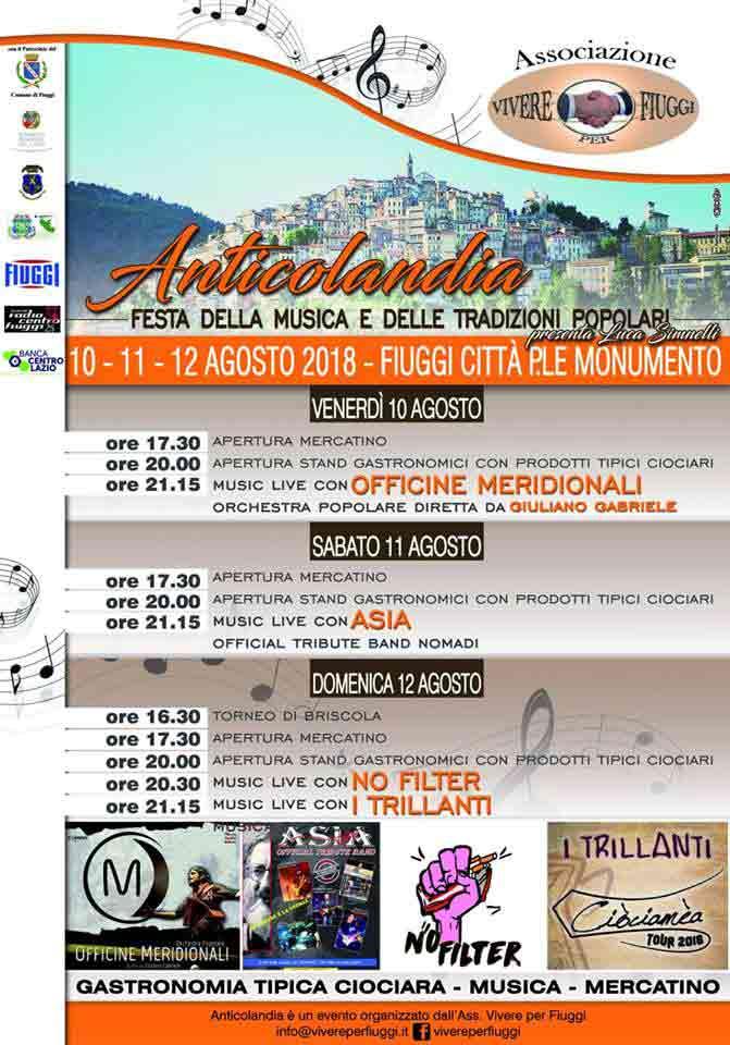 Anticolandia Fiuggi 2018 Locandina