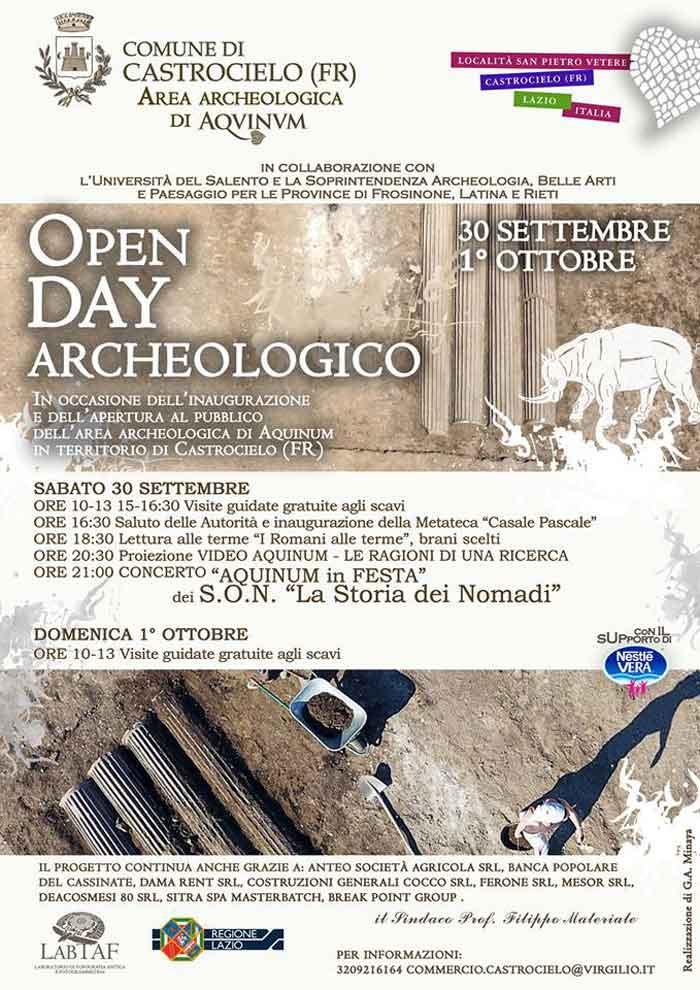 Aquinum in Festa Open Day Archeologico
