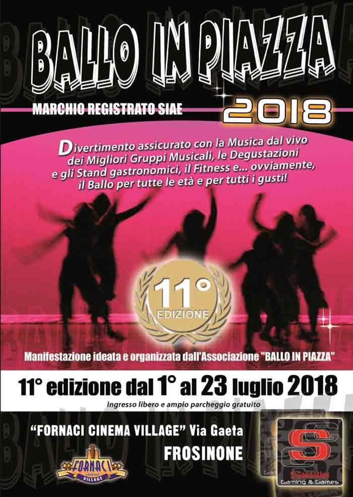 Ballo in Piazza Frosinone 2018 Locandina