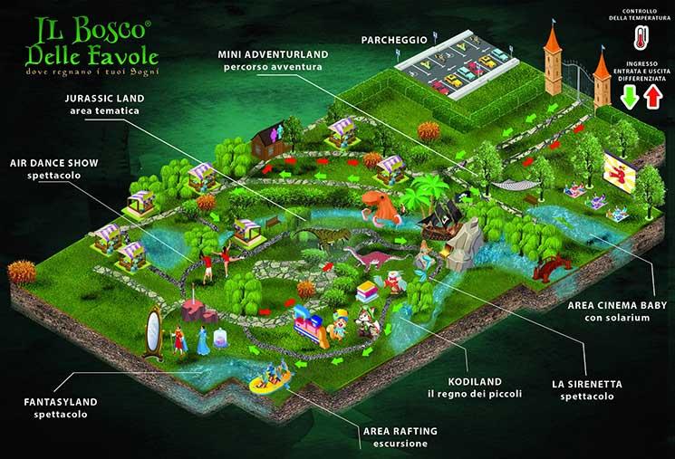 Bosco delle favole mappa 2020