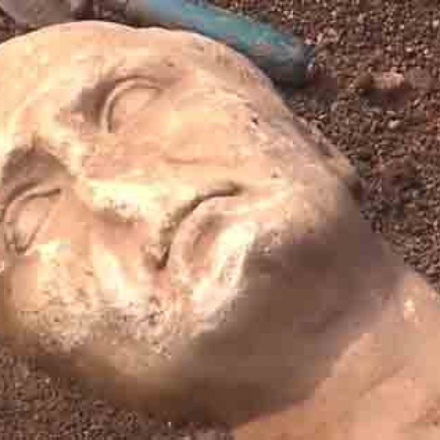Aquinum, nuove scoperte nell'area archeologica, il volto di Giulio Cesare