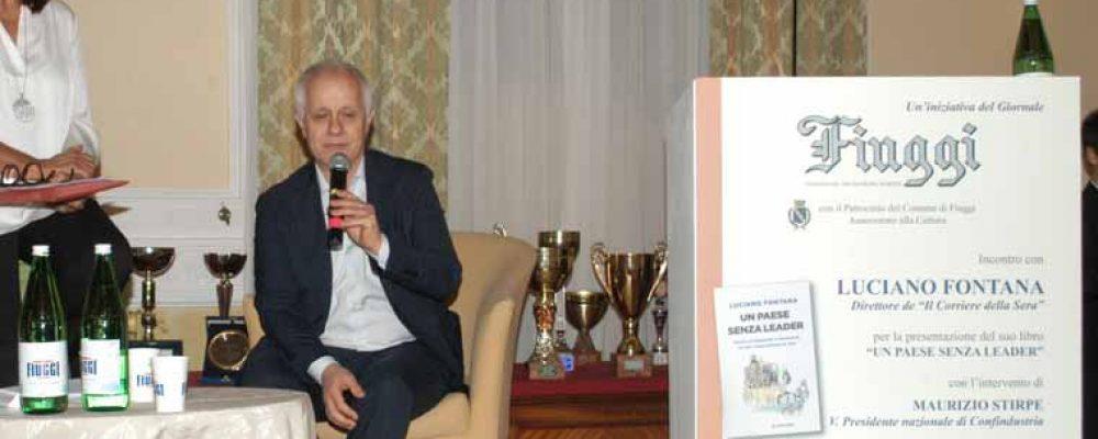 """Fiuggi, Luciano Fontana presenta il suo libro """"Un paese senza leader"""""""