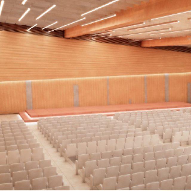 Il nuovo palazzo dei congressi di Fiuggi