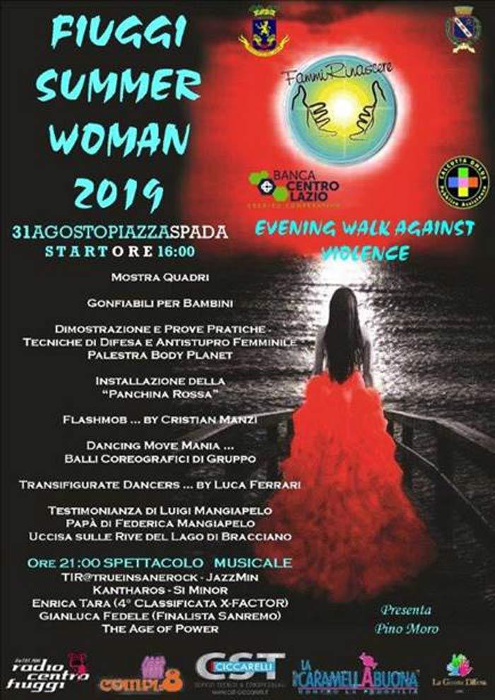 Camminata contro la violenza sulle donne a Fiuggi