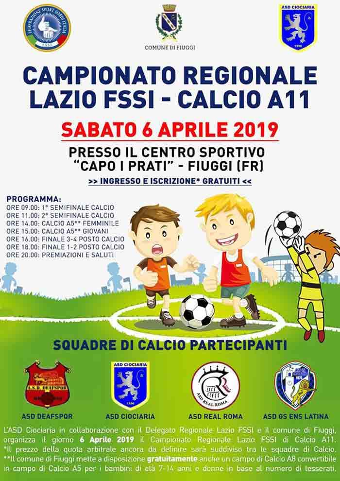 campionato regionale Lazio Fssi