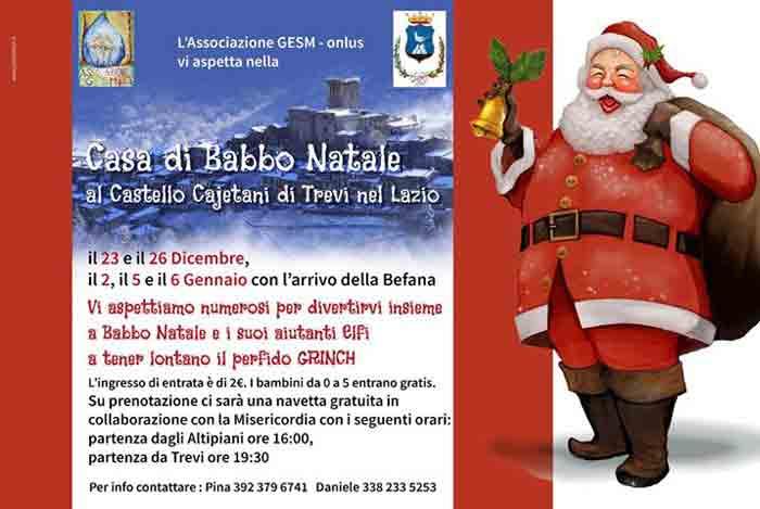 Casa di Babbo Natale Trevi nel Lazio