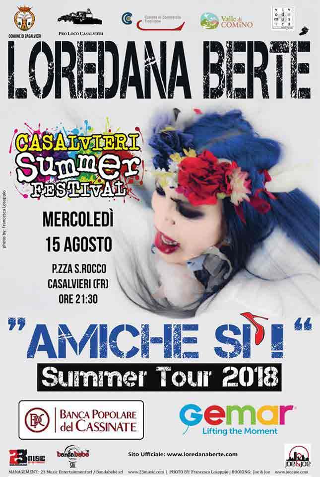 Casalvieri Summer Festival 2018 Loredana Bertè