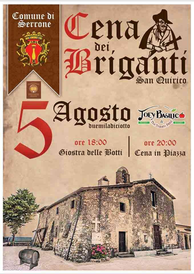 Cena dei Briganti Serrone Locandina