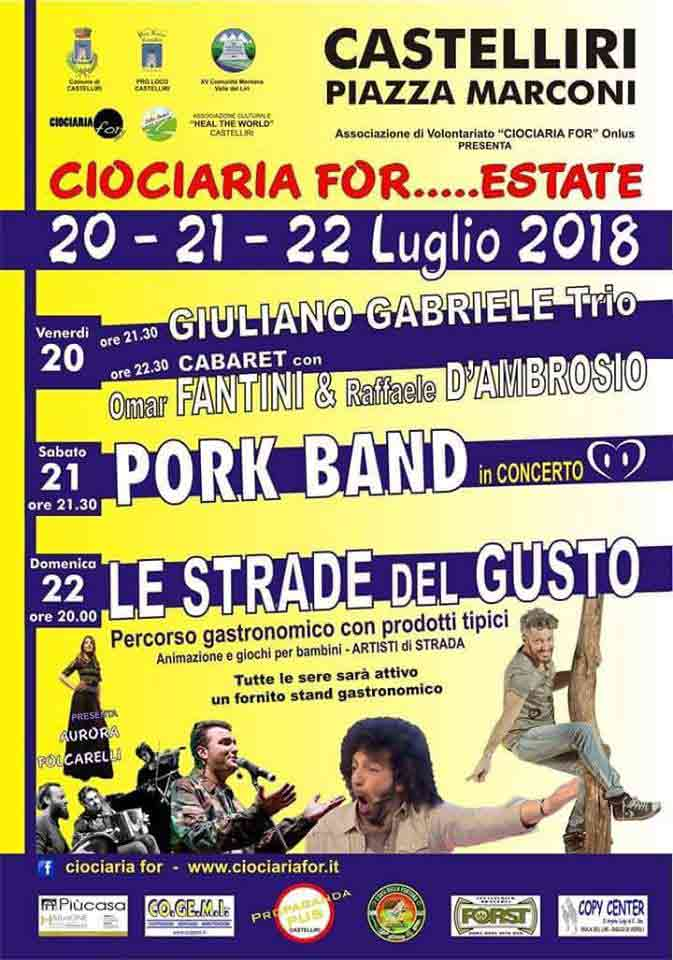 Ciociaria For Estate 2018 Locandina