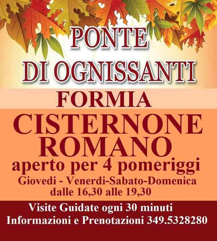 Cisternone Romano Visite Locandina