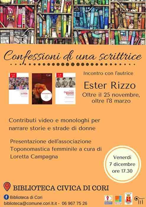 Confessioni di Uno Scrittore Ester Rizzo