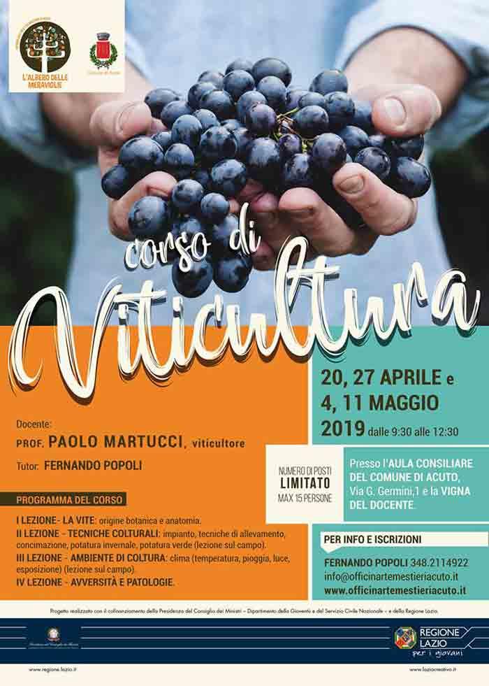 corso di viticultura Acuto