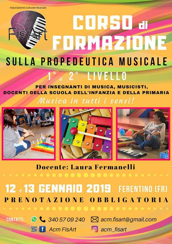 Corso propedeutica Musicale 2019