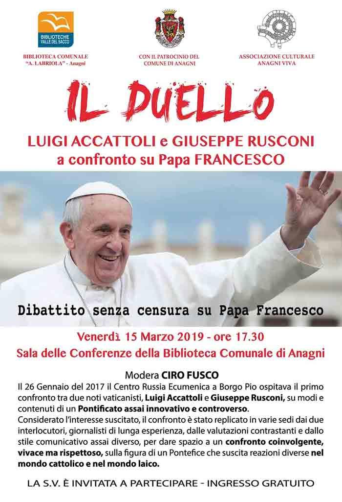 dibattito su Papa Francesco-anagni