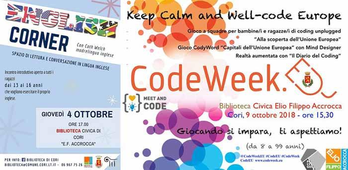 English Corner & Keep Calm and Well Code-Europe 2018