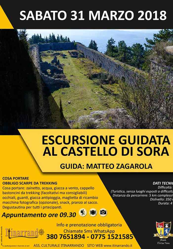 Escursione guidata Castello di Sora