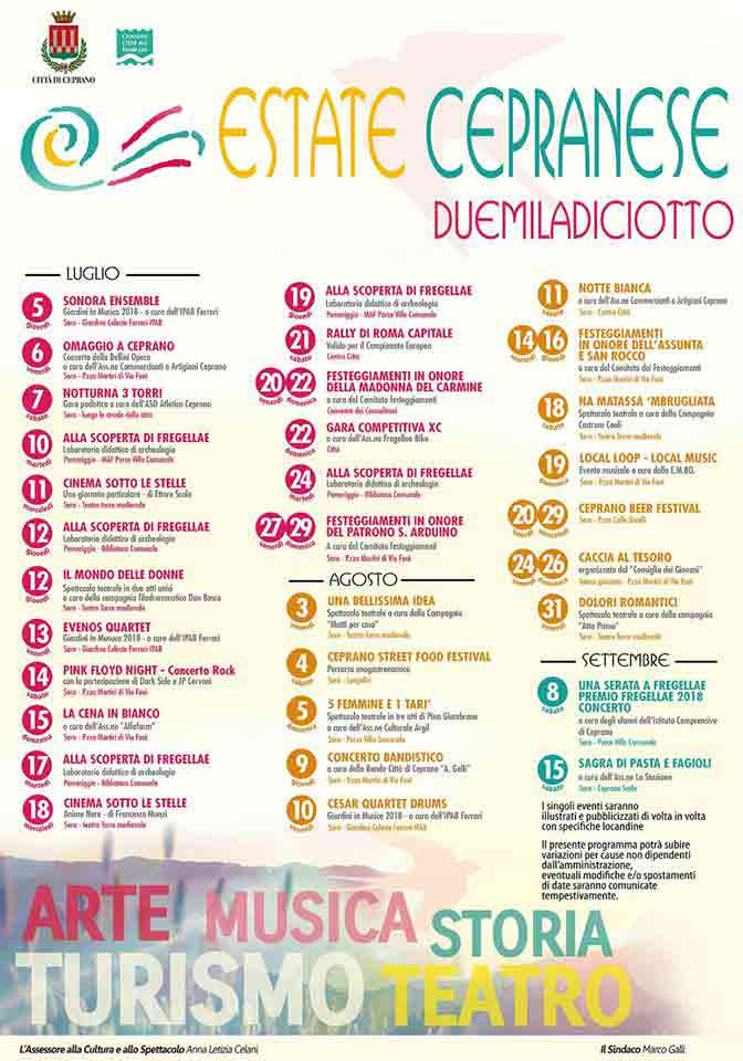 Estate Cepranese 2018 Locandina