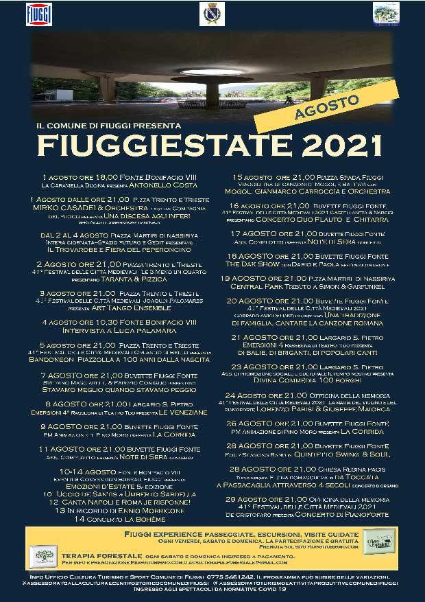 Fiuggi Estate Eventi Agosto 2021