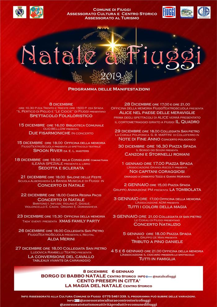 Gli eventi di dicembre a Fiuggi