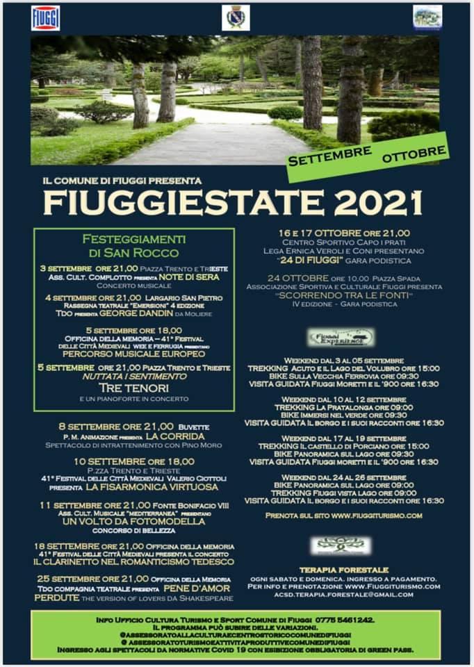Eventi Settembre 2021 Fiuggi