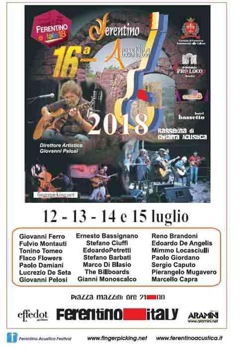 Ferentino Acustica 2018 Locandina