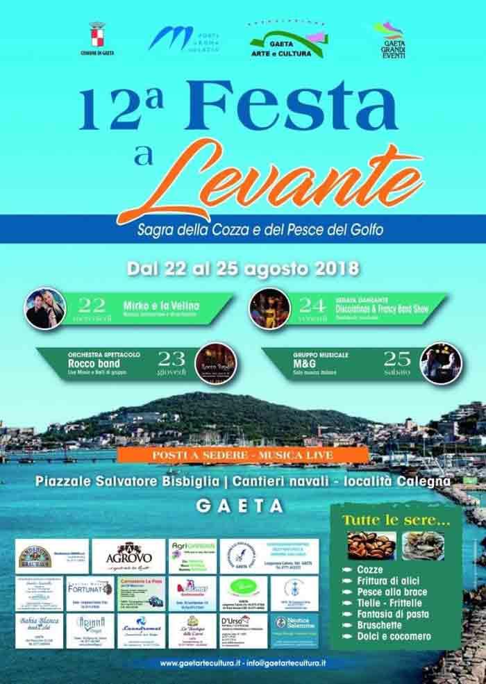 Festa a Levante Gaeta Locandina 2018