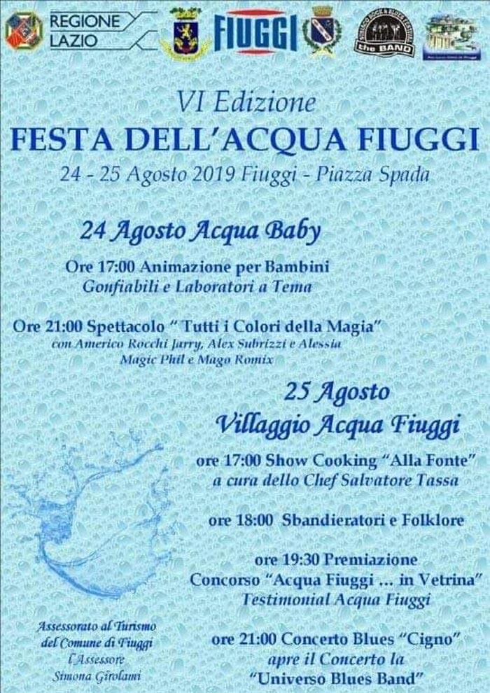 festa acqua Fiuggi