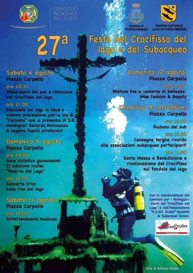 Festa del Crocifisso e del Subacqueo Locandina 2018