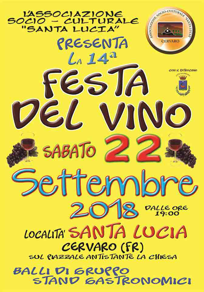 Festa del Vino Cervaro 2018