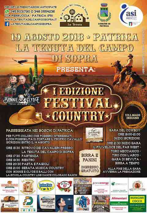 Festival Country Patrica Locandina 2018