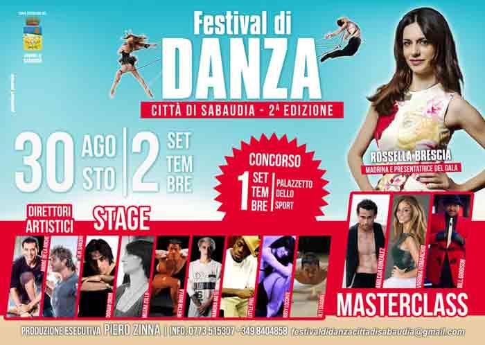 Festival della Danza Locandina 2018 Sabaudia