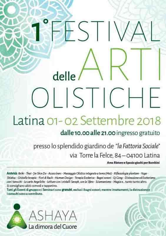 Festival delle Arti Olistiche Locandina 2018 Latina