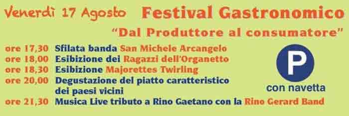 Festival Gastronomico di Pisterzo Programma