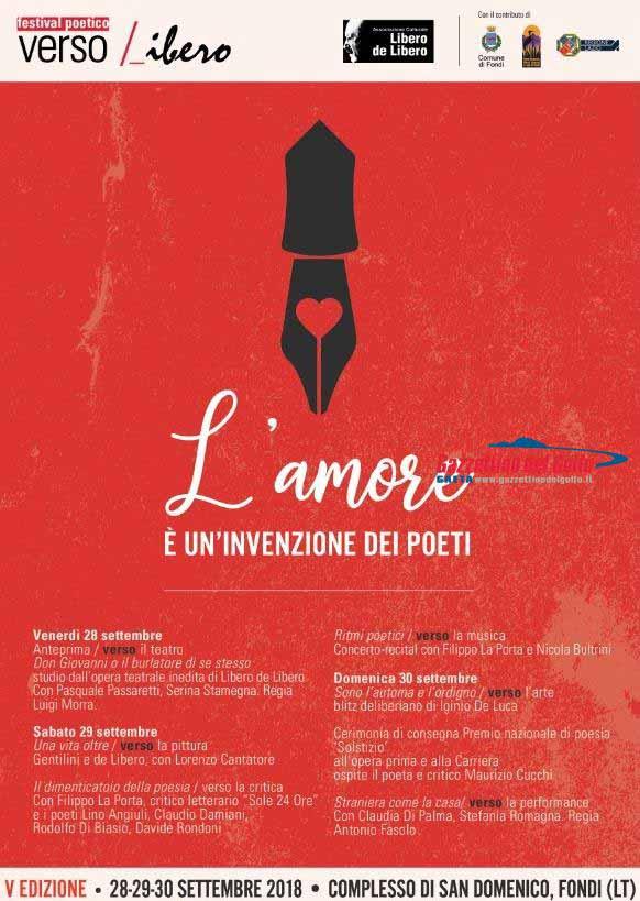 Festival Poetico Versov Liibero Locandina 2018
