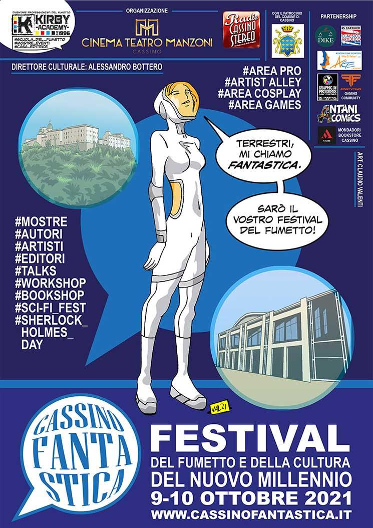 Cassino Fantastica 2021 Festival Fumetto Locandina