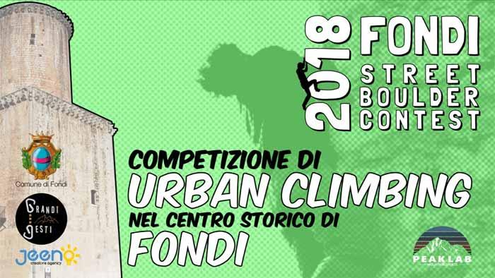 Fondi Street Boulder Contest Locandina