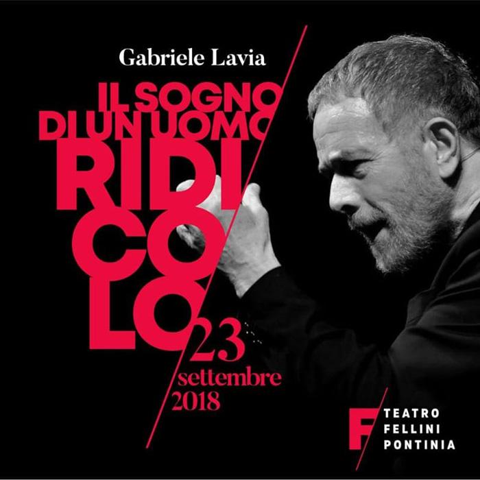 Gabriele Lavia Teatro Fellini Pontinia Locandina 2018