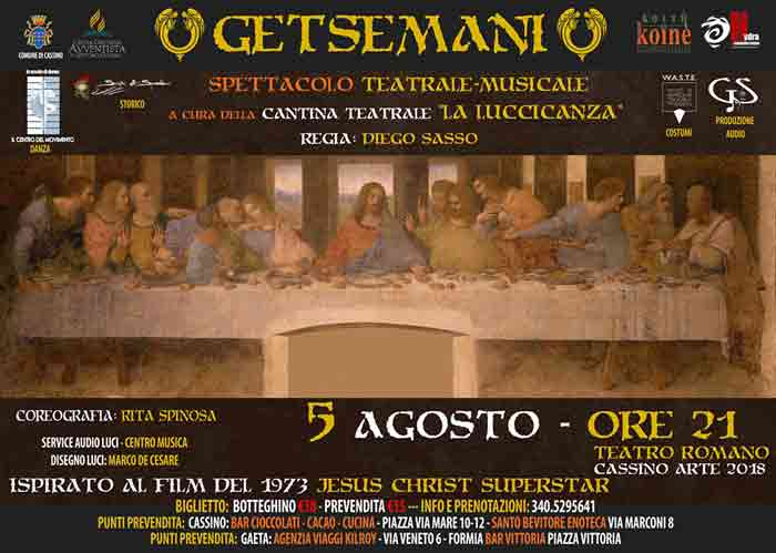Gestemani Cassino Teatro Romano Locandina