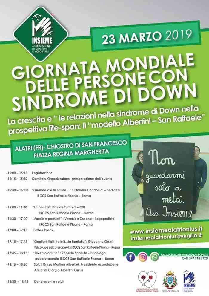 giornata mondiale sindrome down Alatri