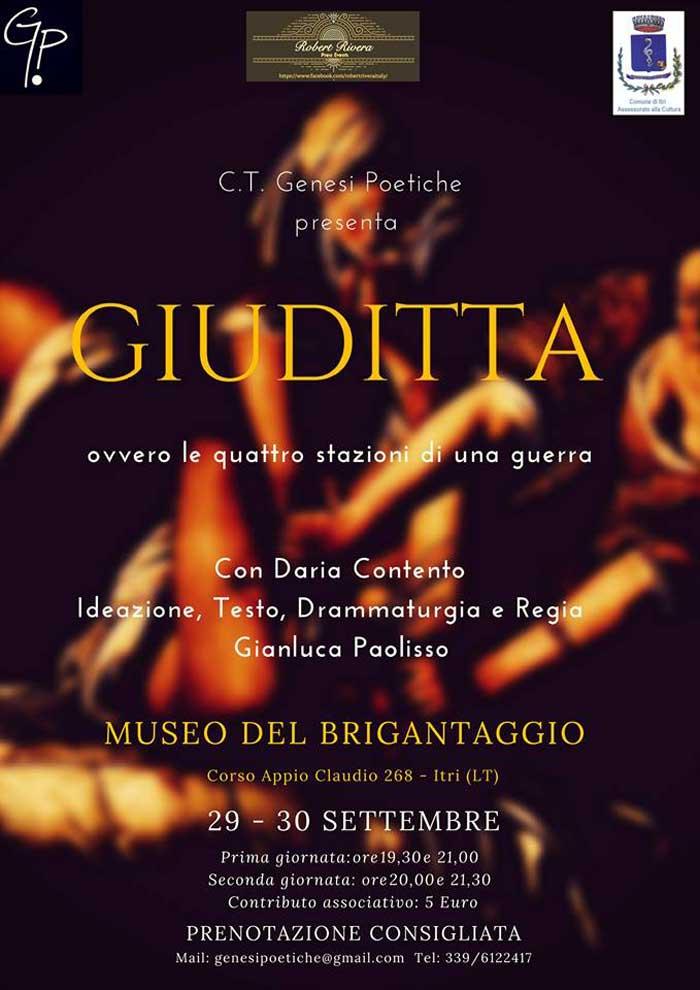 Giuditta Spettacolo Teatrale Itri