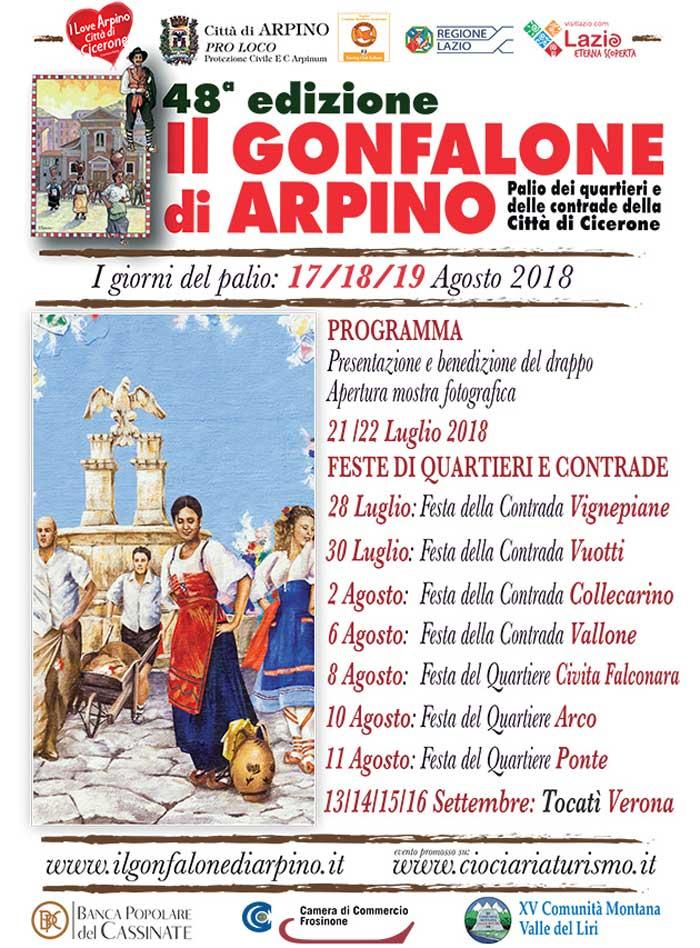 Gonfalone Arpino 2018 Locandina