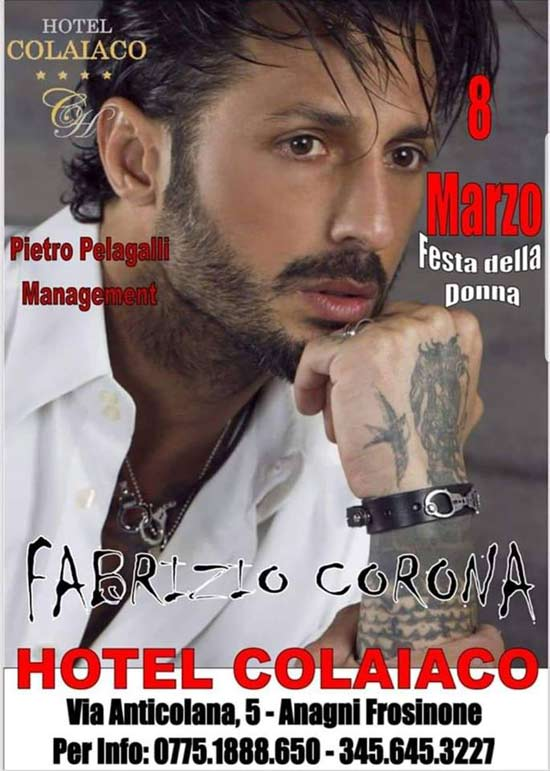 Fabrizio Corona Festa delle Donne