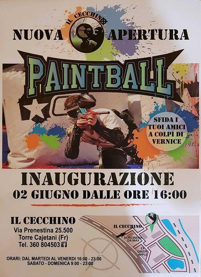 Inaugurazione Paintball