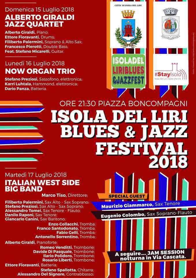 Isola del Liri Blues e Jazz Fest Locandina
