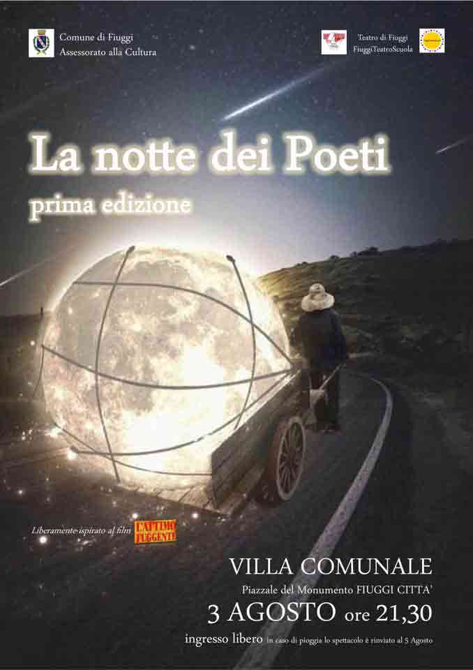 La Notte dei Poeti Fiuggi Locandina