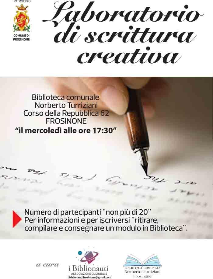 laboratorio scrittura Biblionauti Frosinone