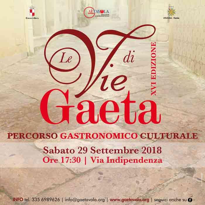 Le Vie di Gaeta Locandina 2018